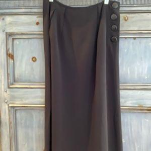 Yves Saint Laurent Rive Gauche  black dress skirt